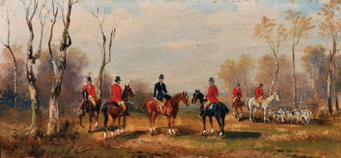 Rudolf Stone (19th - 20th Century) British. A Hunting
