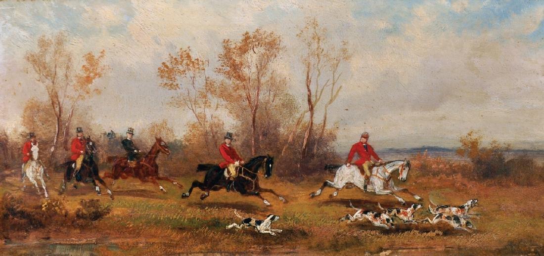 Rudolf Stone (19th - 20th Century) British. A Hunting - 2
