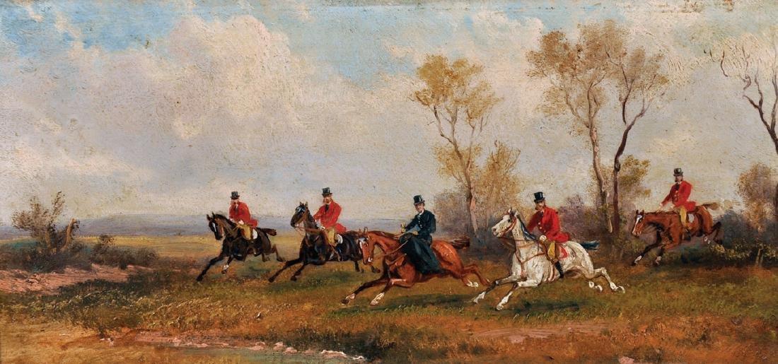 Rudolf Stone (19th - 20th Century) British. A Hunting - 3