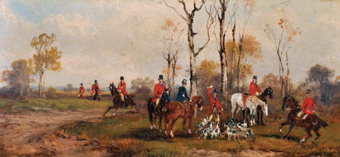 Rudolf Stone (19th - 20th Century) British. A Hunting - 4