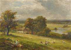 """George Turner (1843-1910) British. """"The Valley of the"""