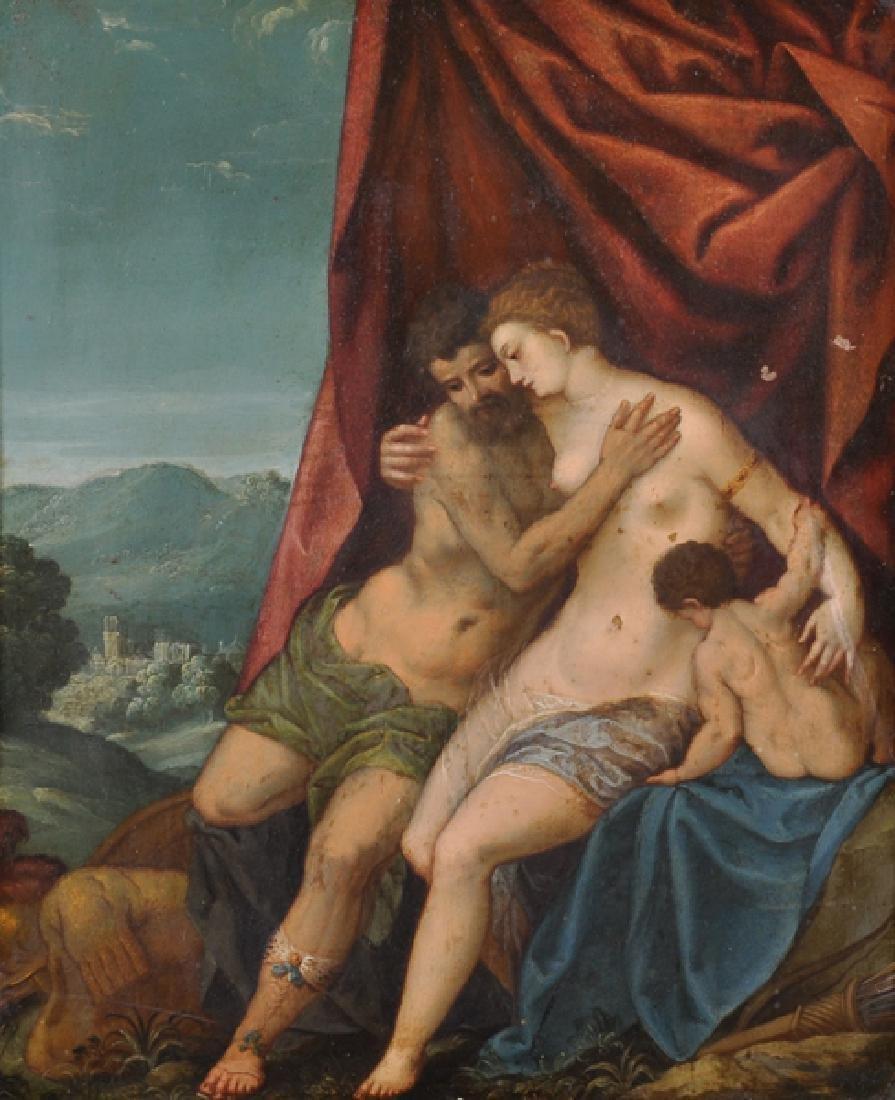 17th Century Italian School. Venus and Adonis with