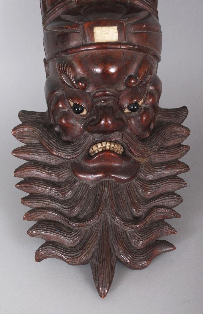 A 19TH/20TH CENTURY CHINESE BONE INLAID CARVED HARDWOOD - 5