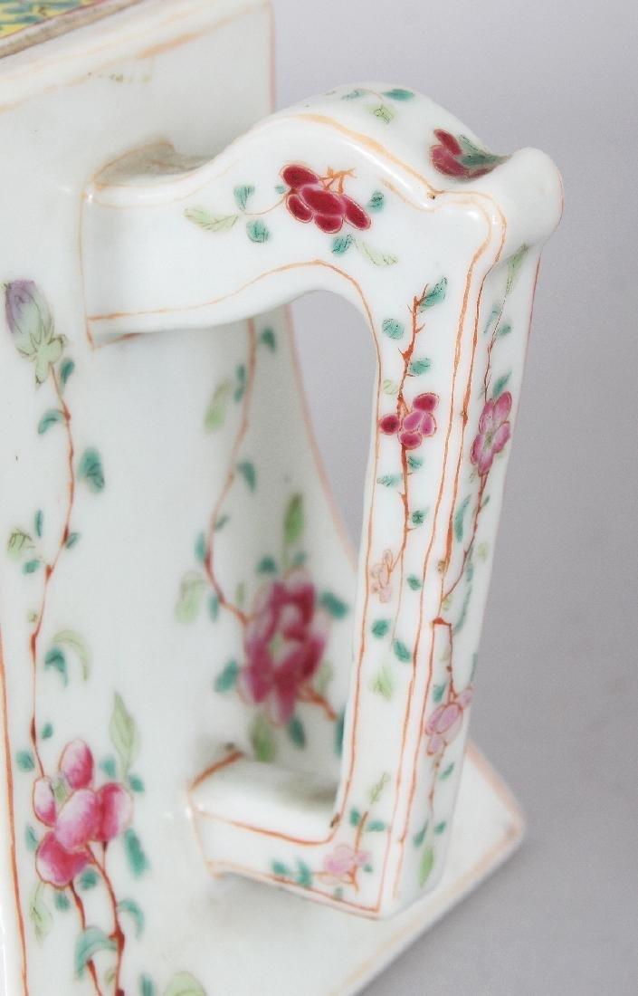 A FINE QUALITY 19TH CENTURY CHINESE FAMILLE ROSE SQUARE - 6