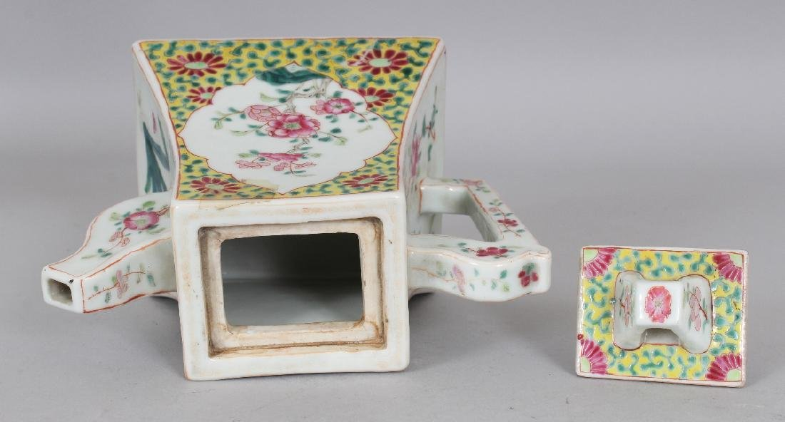 A FINE QUALITY 19TH CENTURY CHINESE FAMILLE ROSE SQUARE - 7