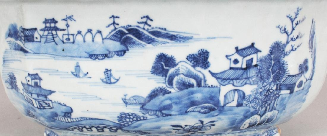 AN 18TH CENTURY CHINESE QIANLONG PERIOD BLUE & WHITE - 3