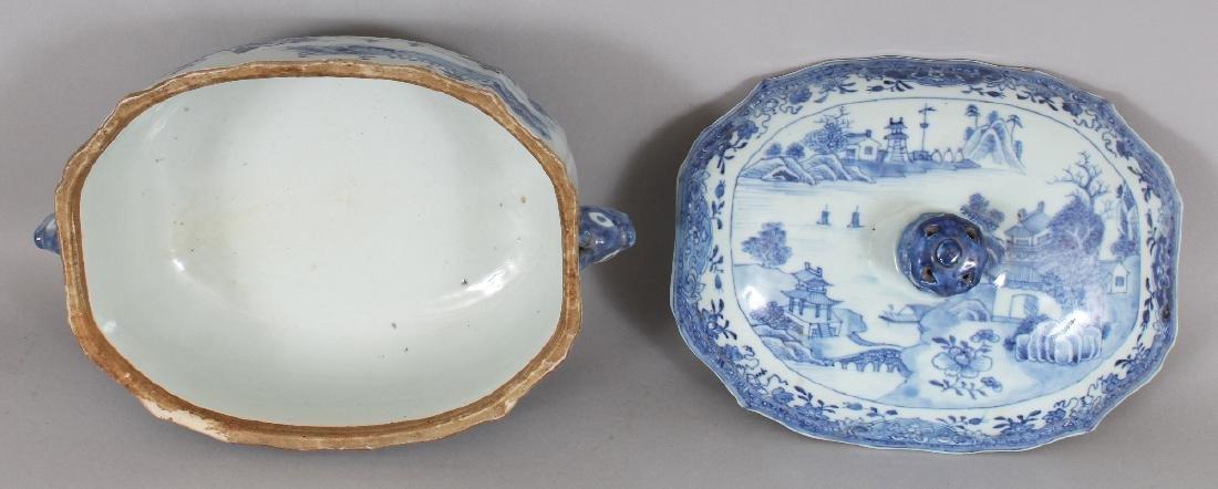AN 18TH CENTURY CHINESE QIANLONG PERIOD BLUE & WHITE - 5