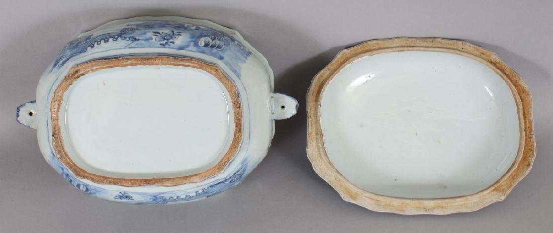 AN 18TH CENTURY CHINESE QIANLONG PERIOD BLUE & WHITE - 7