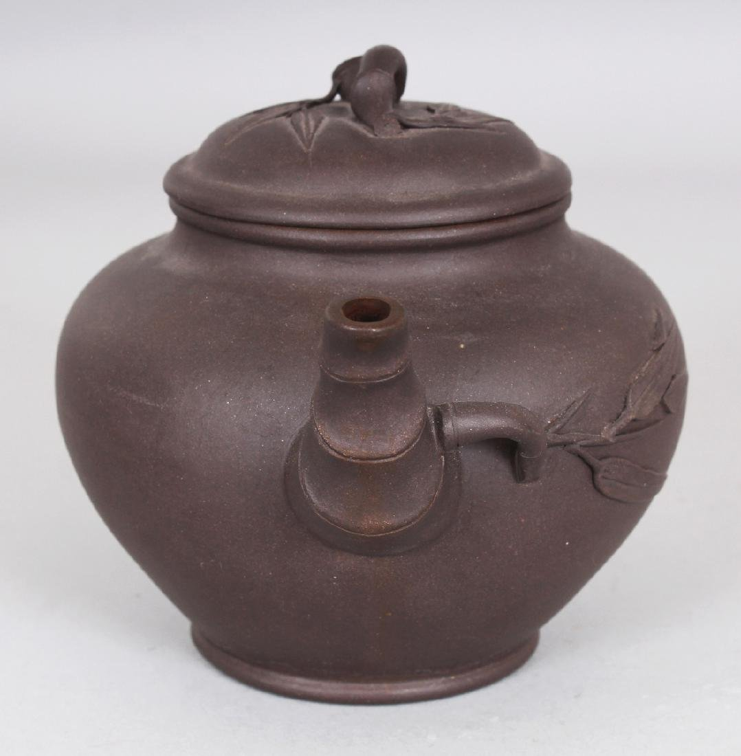 A 19TH/20TH CENTURY YIXING POTTERY TEAPOT & COVER, the - 2
