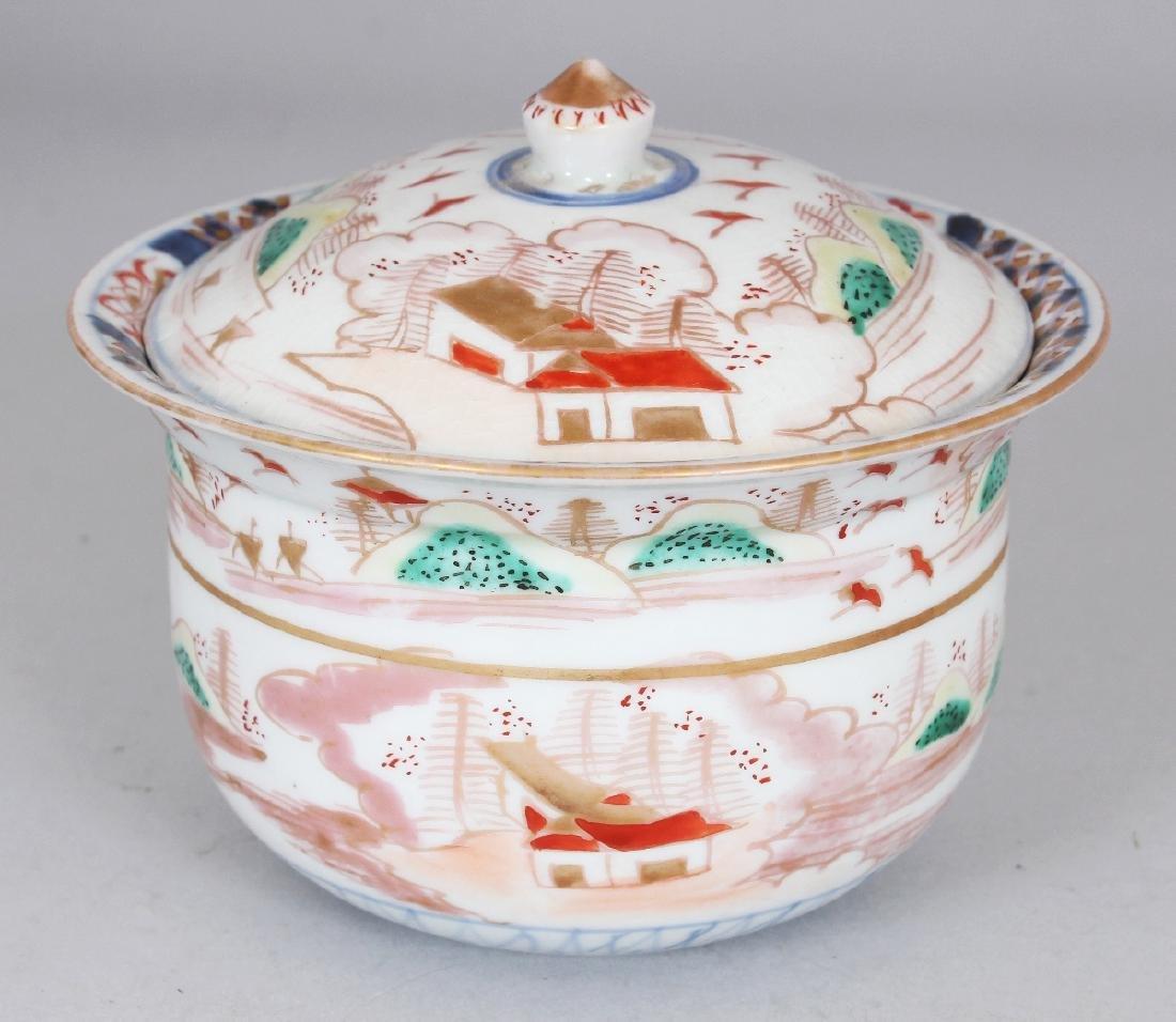 AN 18TH/19TH CENTURY JAPANESE IMARI PORCELAIN BOWL &