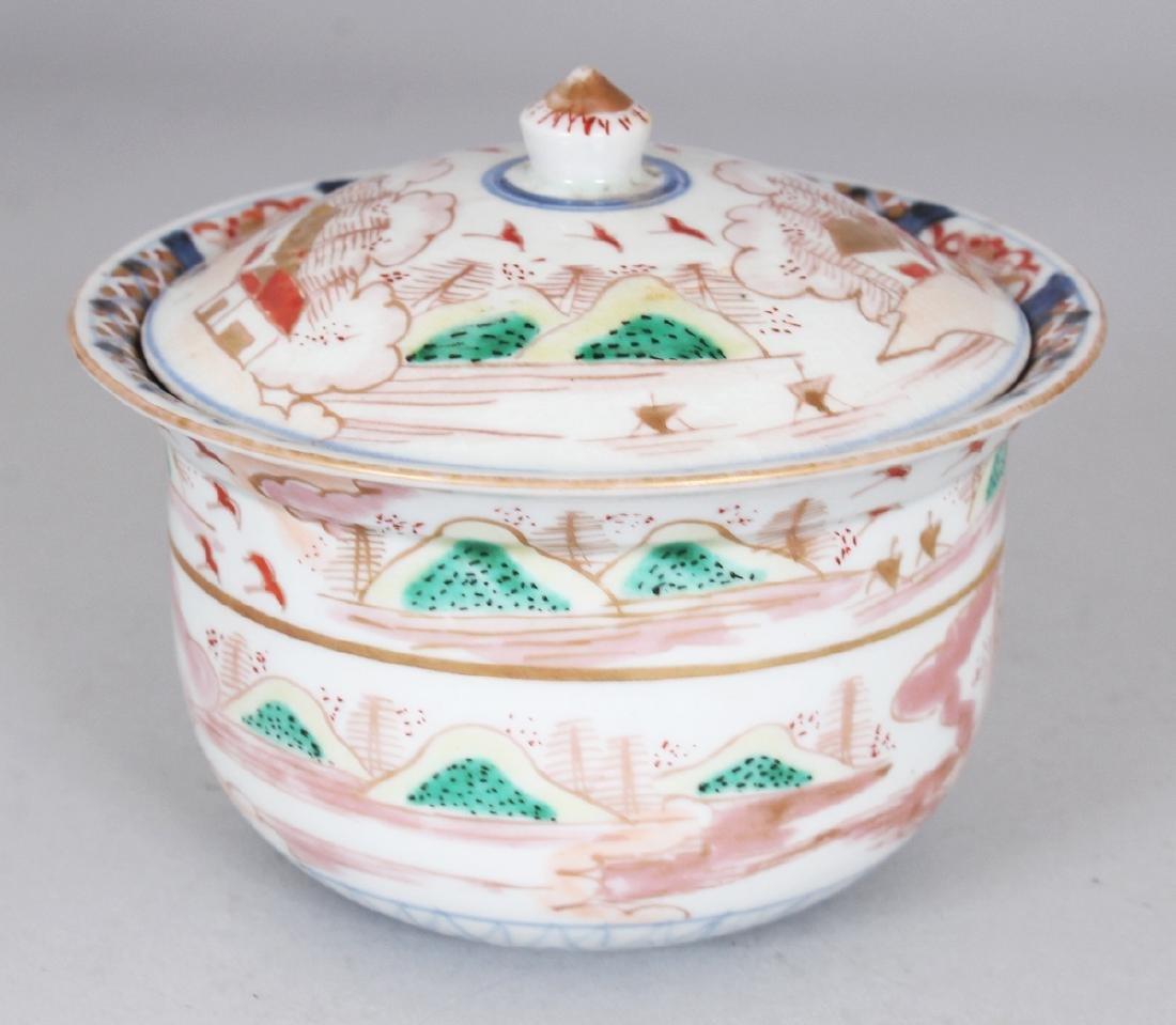 AN 18TH/19TH CENTURY JAPANESE IMARI PORCELAIN BOWL & - 2