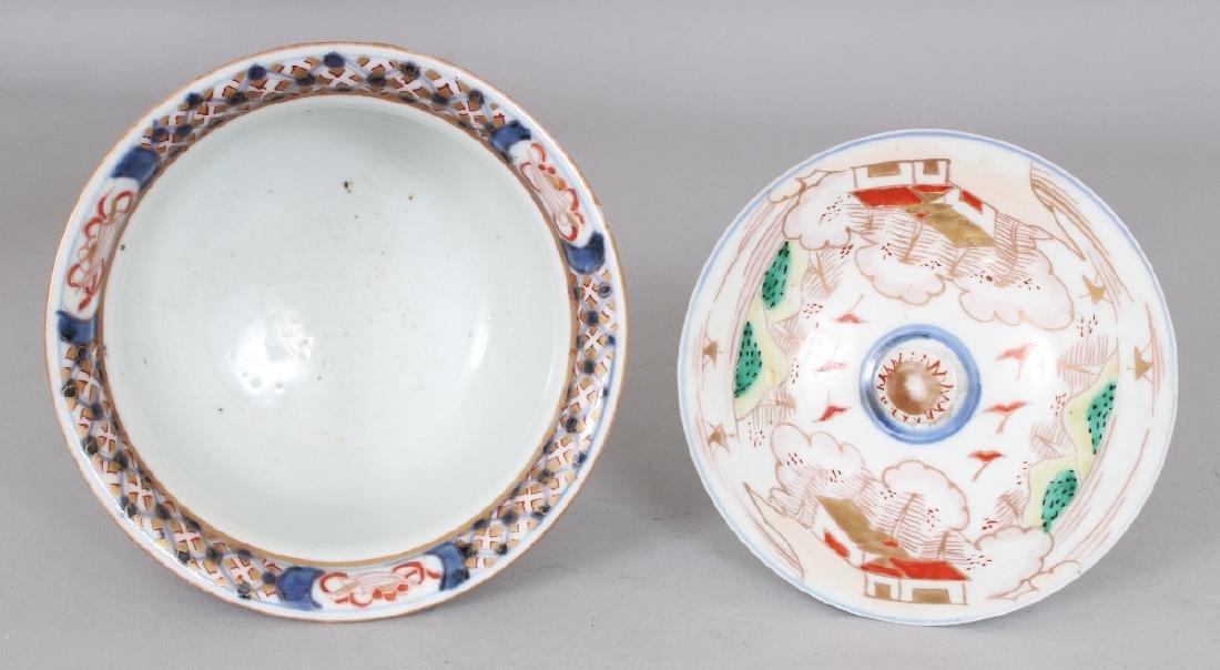 AN 18TH/19TH CENTURY JAPANESE IMARI PORCELAIN BOWL & - 3