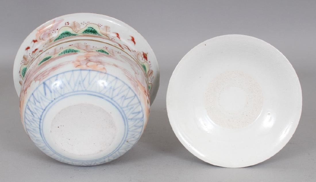 AN 18TH/19TH CENTURY JAPANESE IMARI PORCELAIN BOWL & - 6