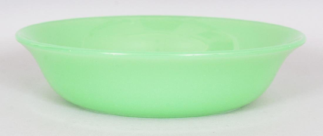 A 19TH/20TH CENTURY CHINESE LIME GREEN BEIJING GLASS