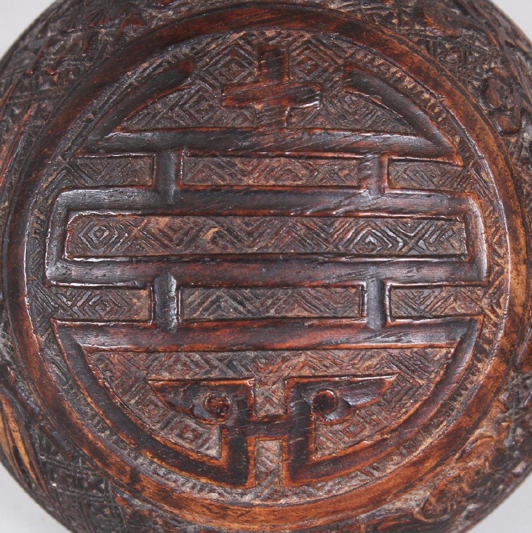 A GOOD QUALITY 19TH CENTURY CHINESE CARVED WOOD - 5