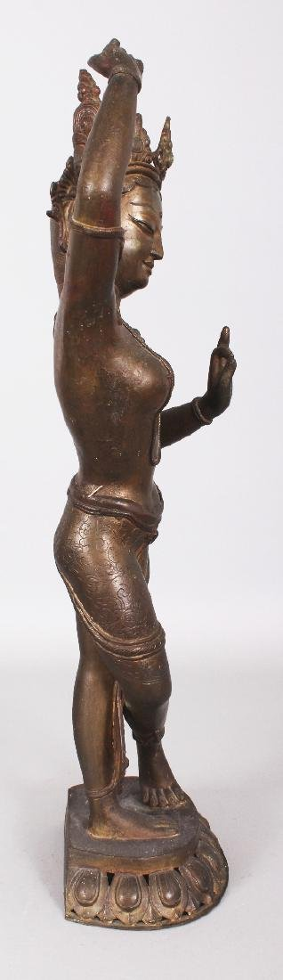 A LARGE 19TH/20TH CENTURY INDIAN BRONZE FIGURE OF - 2