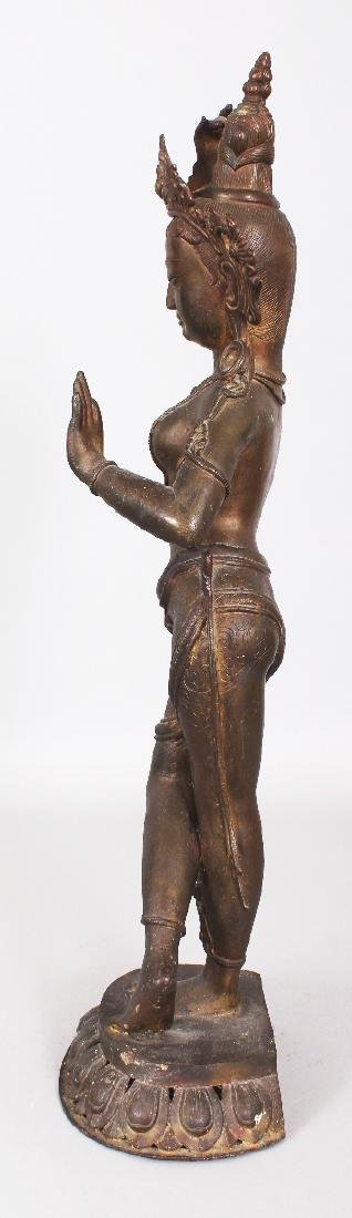 A LARGE 19TH/20TH CENTURY INDIAN BRONZE FIGURE OF - 4