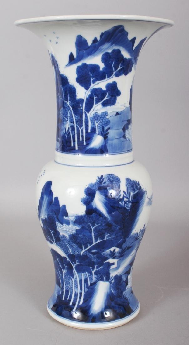 A CHINESE KANGXI STYLE BLUE & WHITE PORCELAIN YEN-YEN - 4