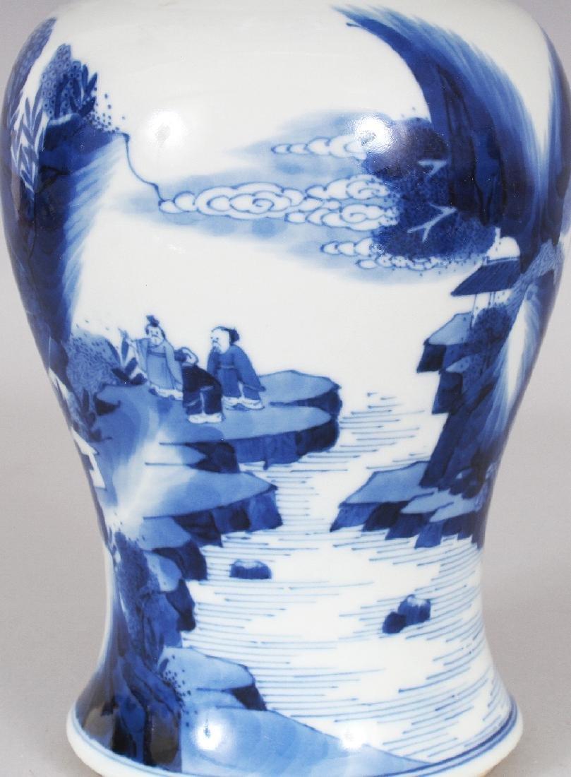 A CHINESE KANGXI STYLE BLUE & WHITE PORCELAIN YEN-YEN - 5