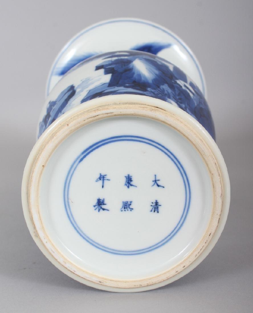 A CHINESE KANGXI STYLE BLUE & WHITE PORCELAIN YEN-YEN - 7
