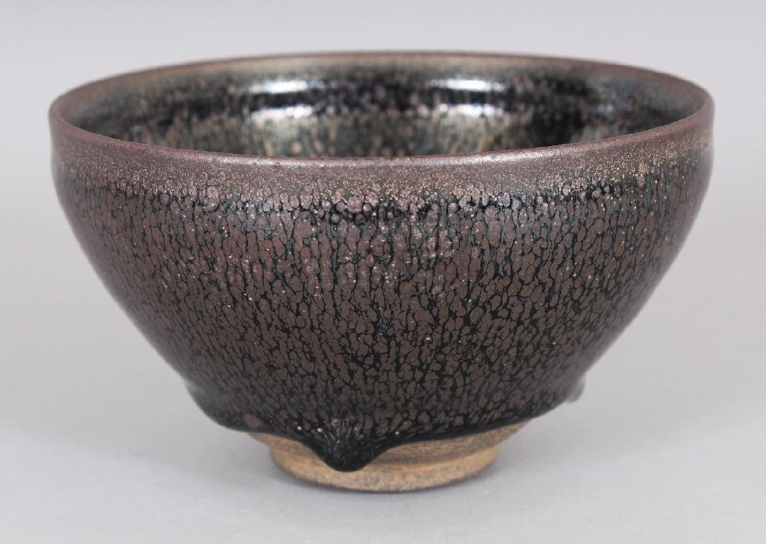 A CHINESE SONG STYLE JIAN WARE OIL SPOT CERAMIC BOWL, - 2