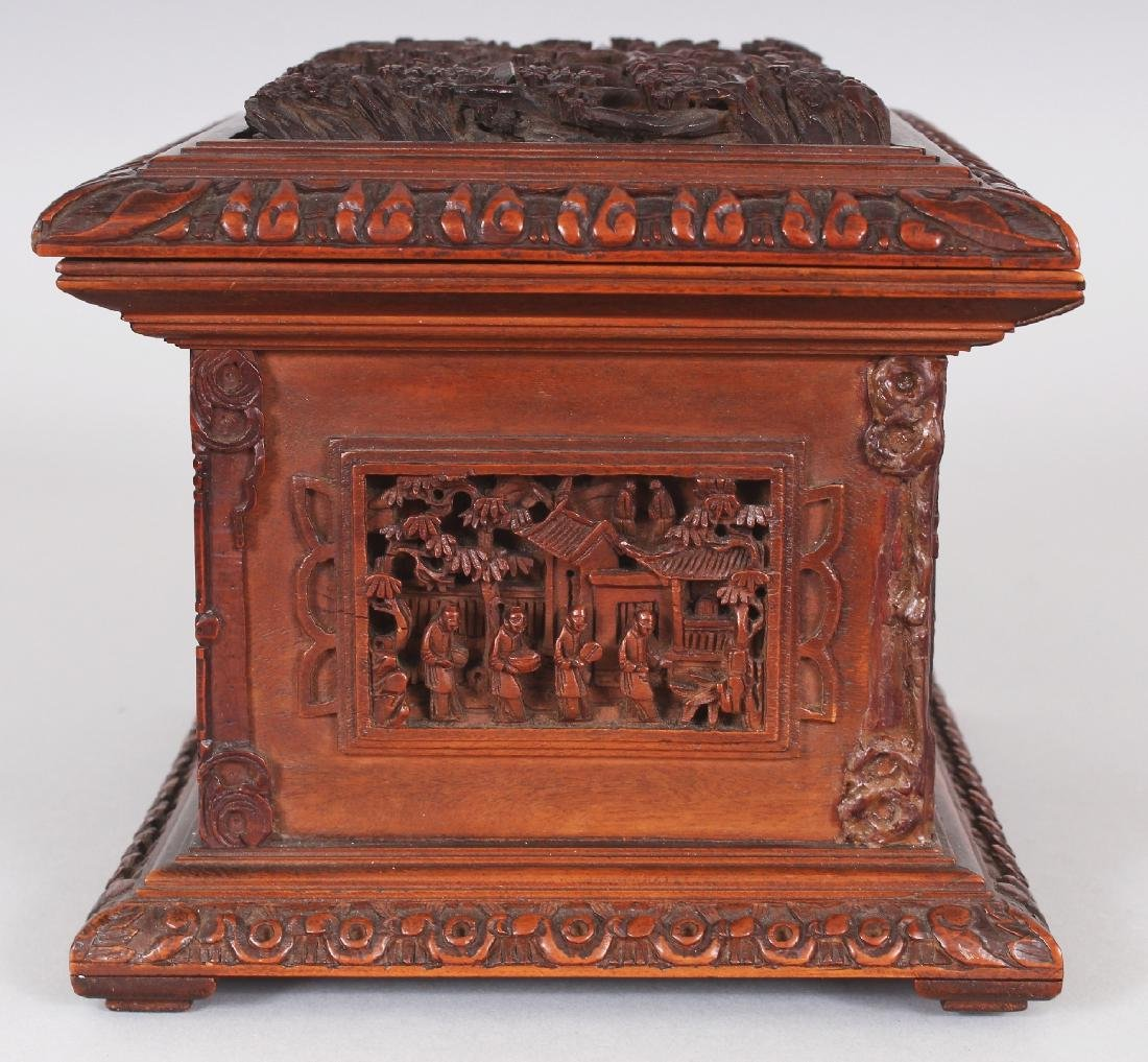 A GOOD QUALITY 19TH CENTURY CHINESE RECTANGULAR - 3