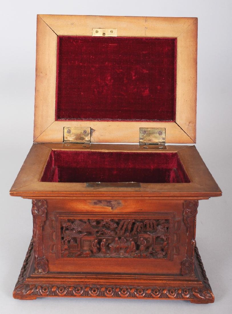 A GOOD QUALITY 19TH CENTURY CHINESE RECTANGULAR - 5