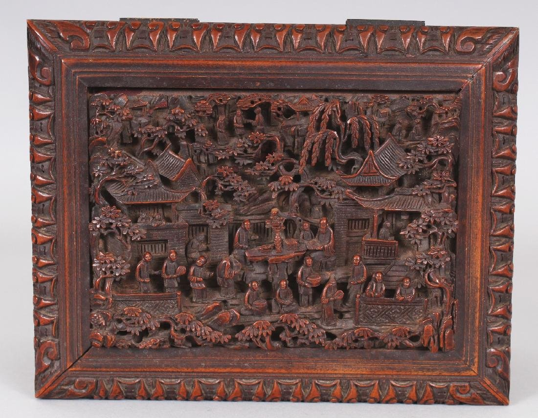 A GOOD QUALITY 19TH CENTURY CHINESE RECTANGULAR - 6