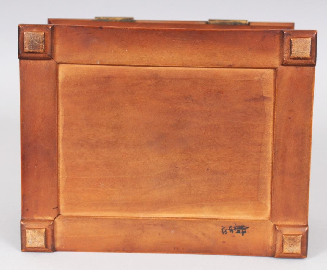 A GOOD QUALITY 19TH CENTURY CHINESE RECTANGULAR - 8
