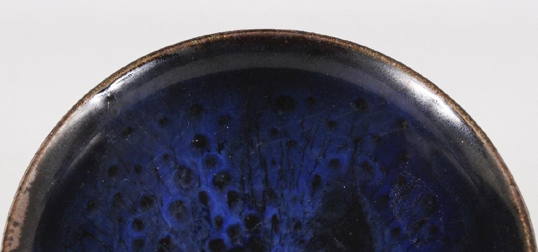 A CHINESE SONG STYLE JIAN WARE BLUE OIL SPOT CERAMIC - 3