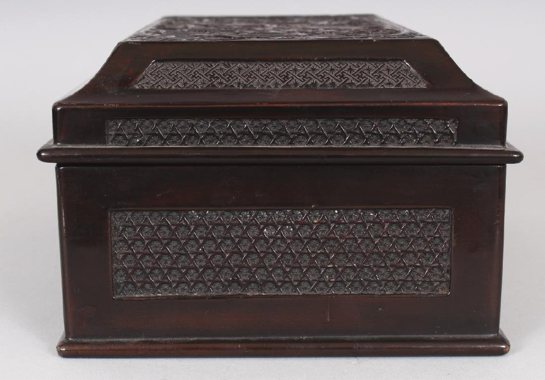 A GOOD QUALITY 19TH CENTURY CHINESE WOOD & PEWTER - 3
