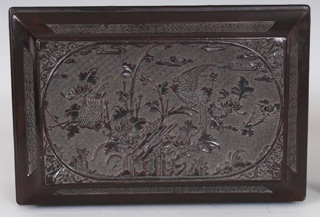 A GOOD QUALITY 19TH CENTURY CHINESE WOOD & PEWTER - 7
