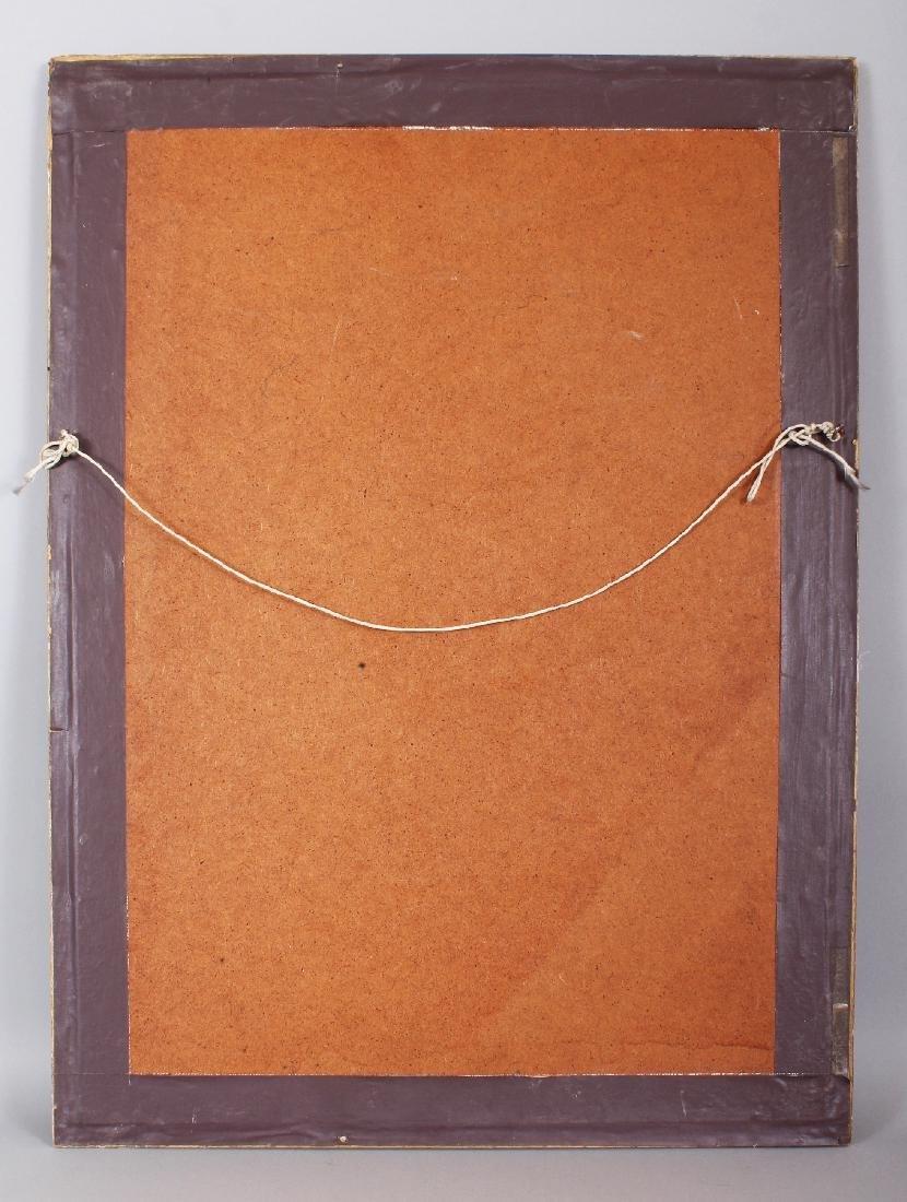 A FRAMED TIBETAN FABRIC THANGKA, the frame 29.1in x - 4
