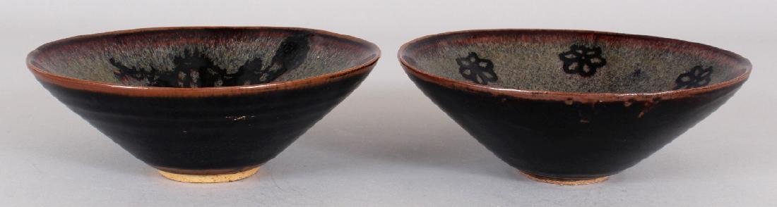TWO CHINESE SONG STYLE JIZHOU CERAMIC BOWLS, one - 2