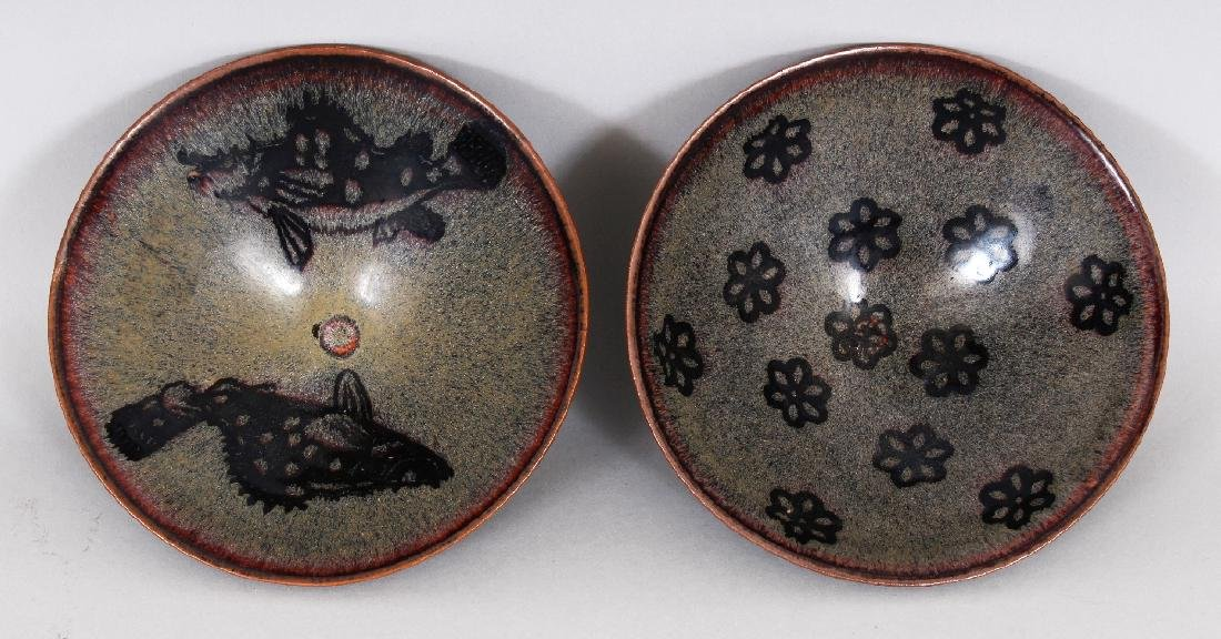 TWO CHINESE SONG STYLE JIZHOU CERAMIC BOWLS, one - 4