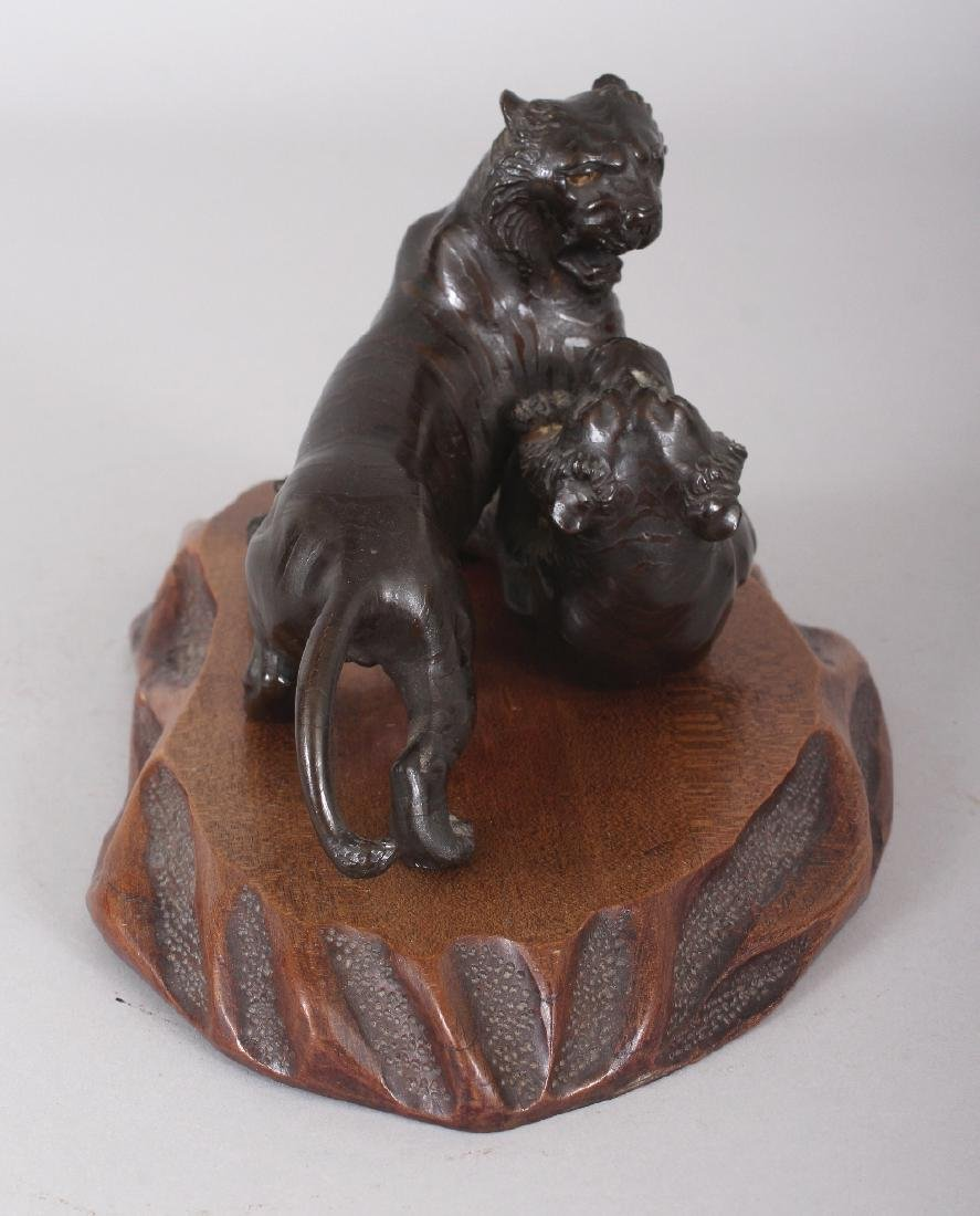 A GOOD QUALITY SIGNED JAPANESE MEIJI PERIOD BRONZE - 2