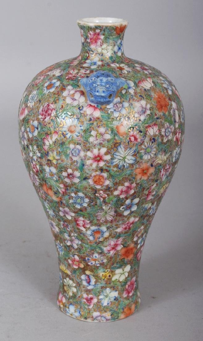 A GOOD QUALITY LATE 19TH CENTURY CHINESE MILLEFLEUR - 2