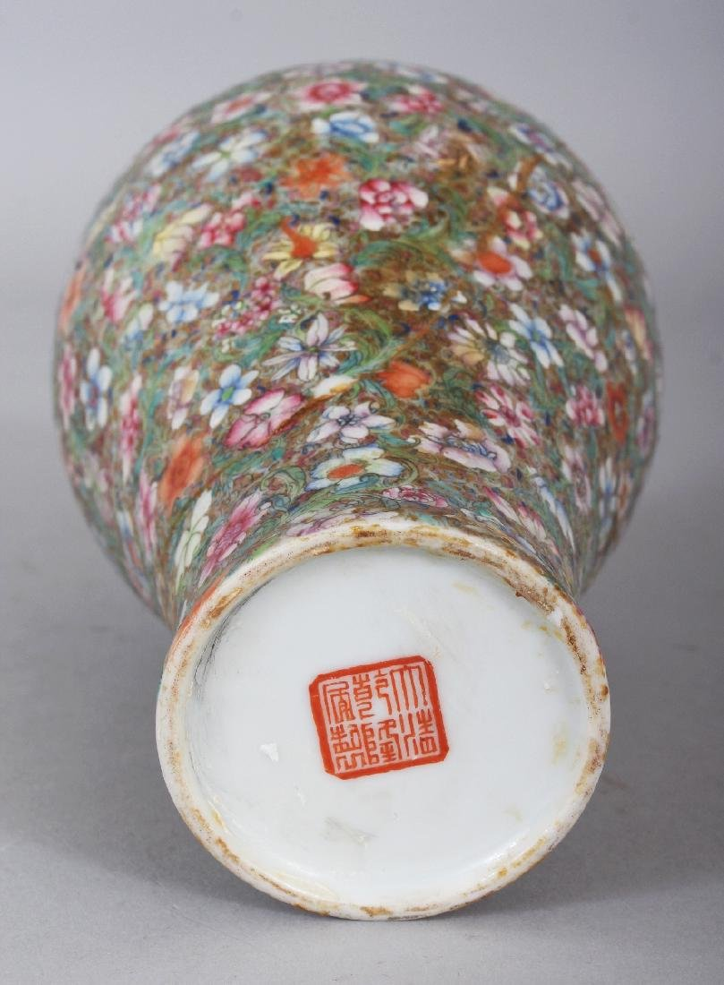A GOOD QUALITY LATE 19TH CENTURY CHINESE MILLEFLEUR - 5