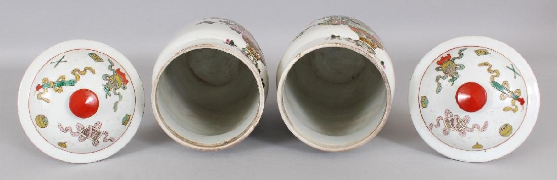 A MIRROR PAIR OF CHINESE REPUBLIC STYLE FAMILLE ROSE - 7