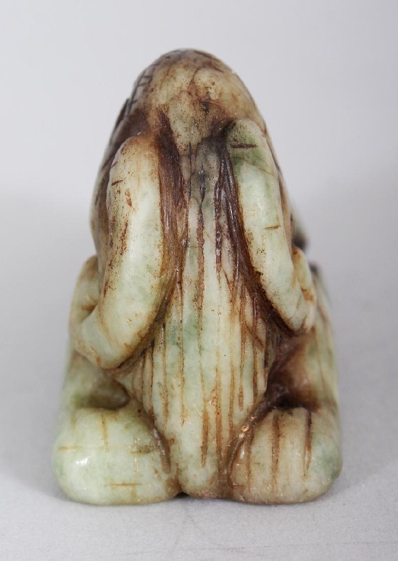 ANOTHER ARCHAIC STYLE JADE CARVING OF A RAM, 2.6in wide - 2