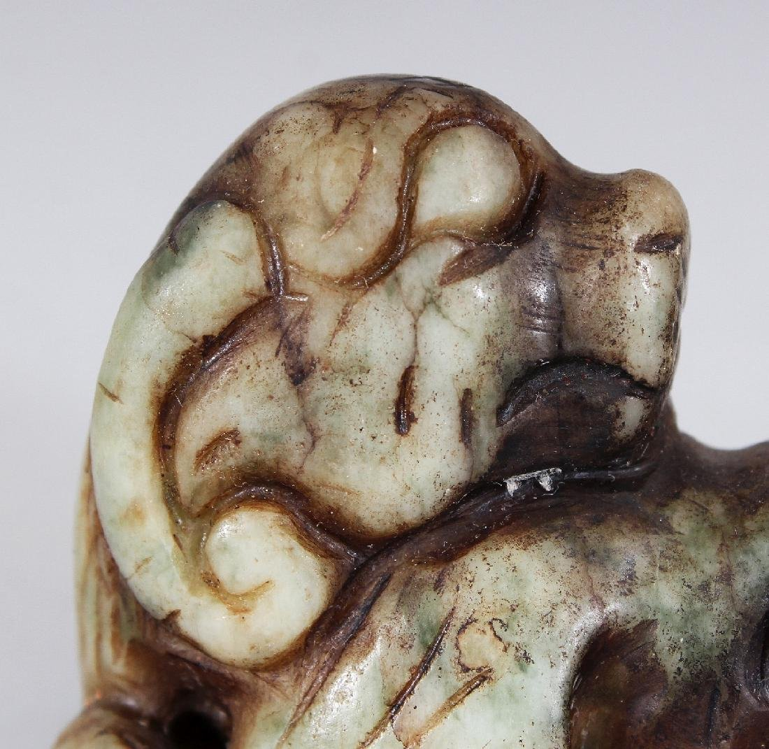 ANOTHER ARCHAIC STYLE JADE CARVING OF A RAM, 2.6in wide - 5