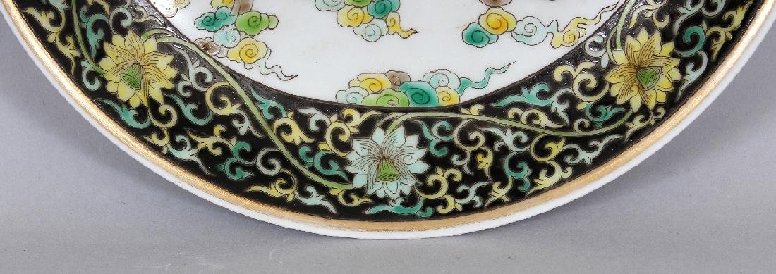 A CHINESE FAMILLE VERTE PORCELAIN SAUCER DISH, the - 3