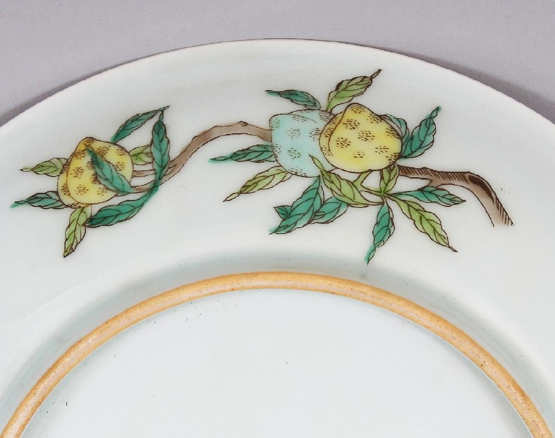 A CHINESE FAMILLE VERTE PORCELAIN SAUCER DISH, the - 6