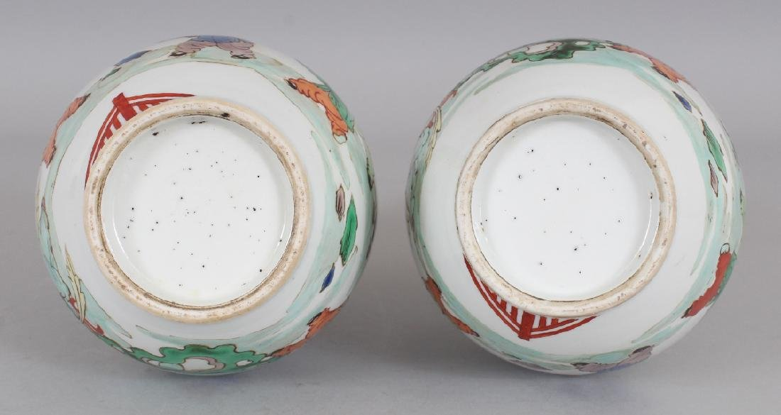 A MIRROR PAIR OF CHINESE KANGXI STYLE FAMILLE VERTE - 7