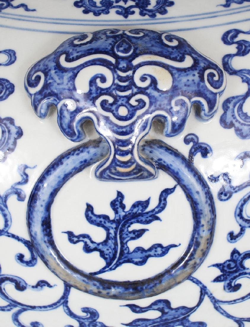 A VERY LARGE GOOD QUALITY CHINESE MING STYLE BLUE & - 6