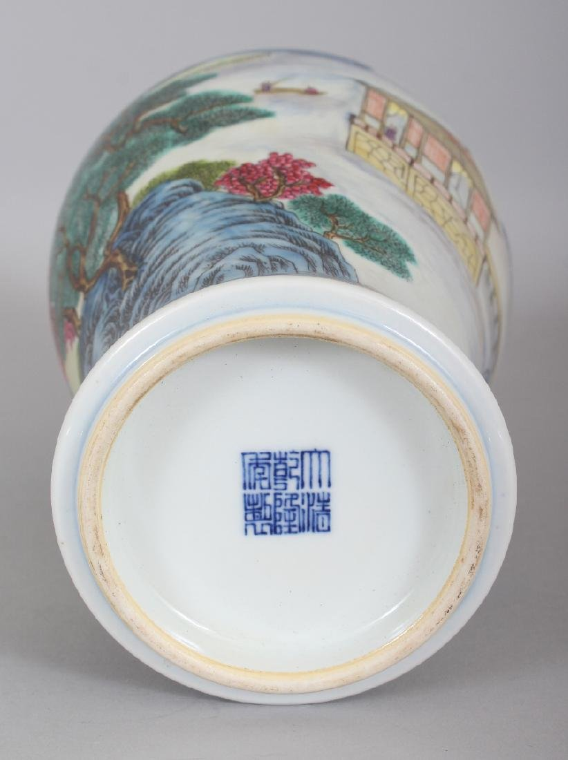 A CHINESE FAMILLE ROSE BALUSTER PORCELAIN VASE, the - 8