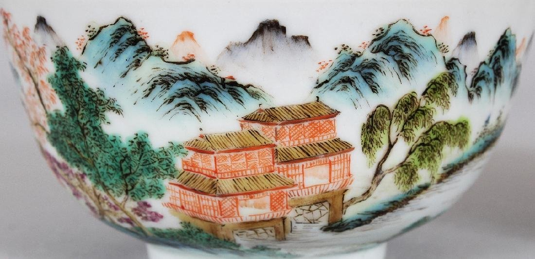 TWO SIMILAR CHINESE FAMILLE ROSE PORCELAIN BOWLS, the - 5