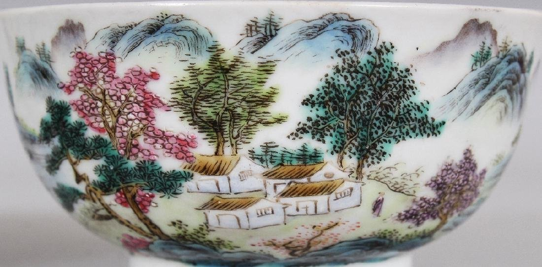 TWO SIMILAR CHINESE FAMILLE ROSE PORCELAIN BOWLS, the - 6