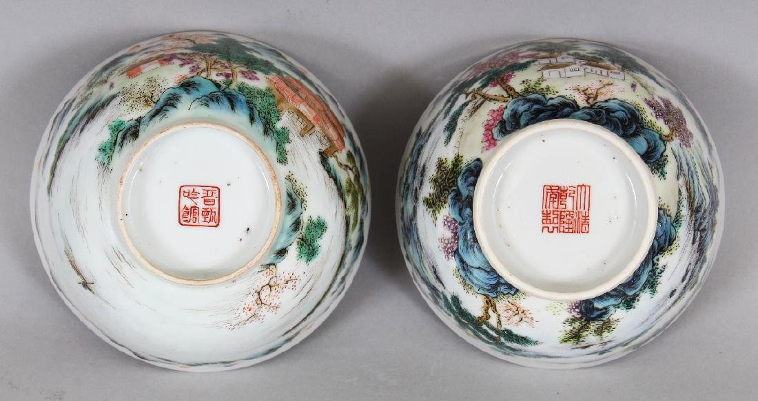 TWO SIMILAR CHINESE FAMILLE ROSE PORCELAIN BOWLS, the - 8