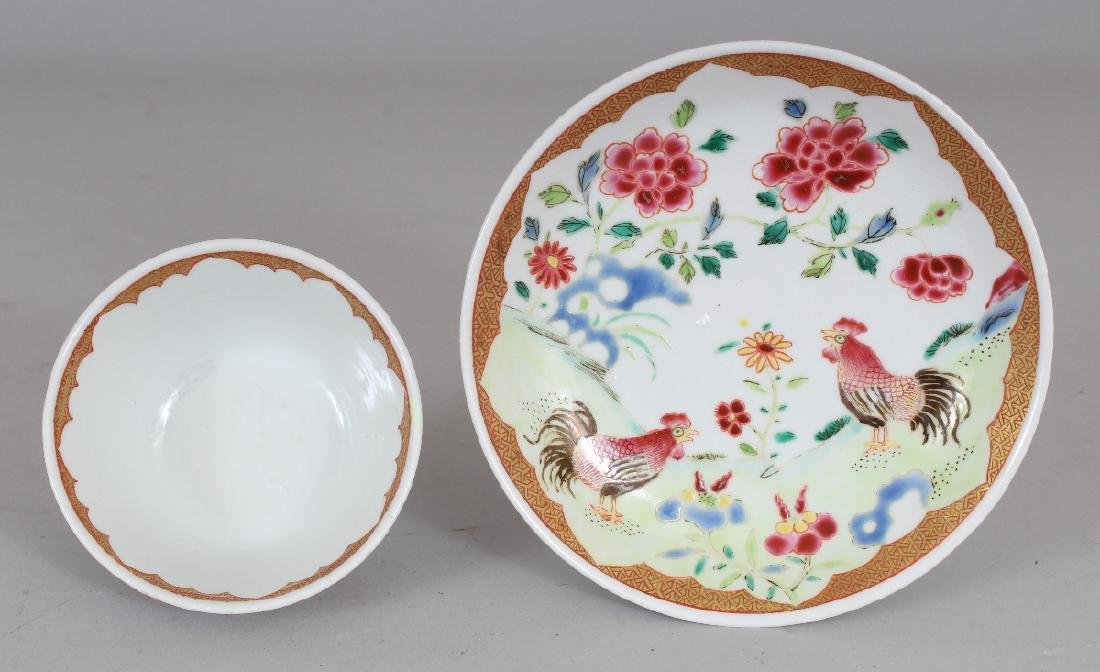 AN 18TH CENTURY STYLE CHINESE FAMILLE ROSE COCKEREL - 6